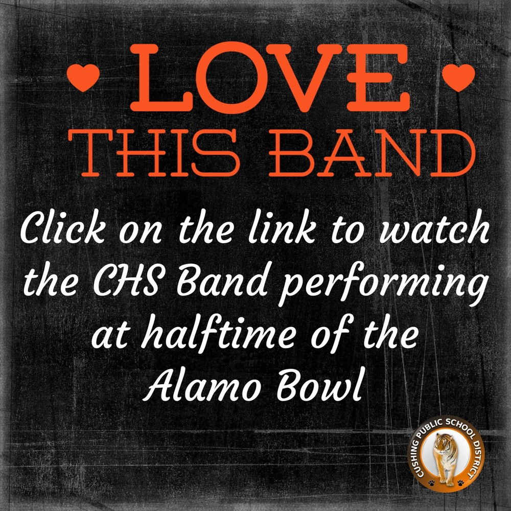CHS Band Performs at Alamo Bowl
