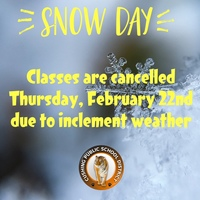 Classes Cancelled Feb 22nd