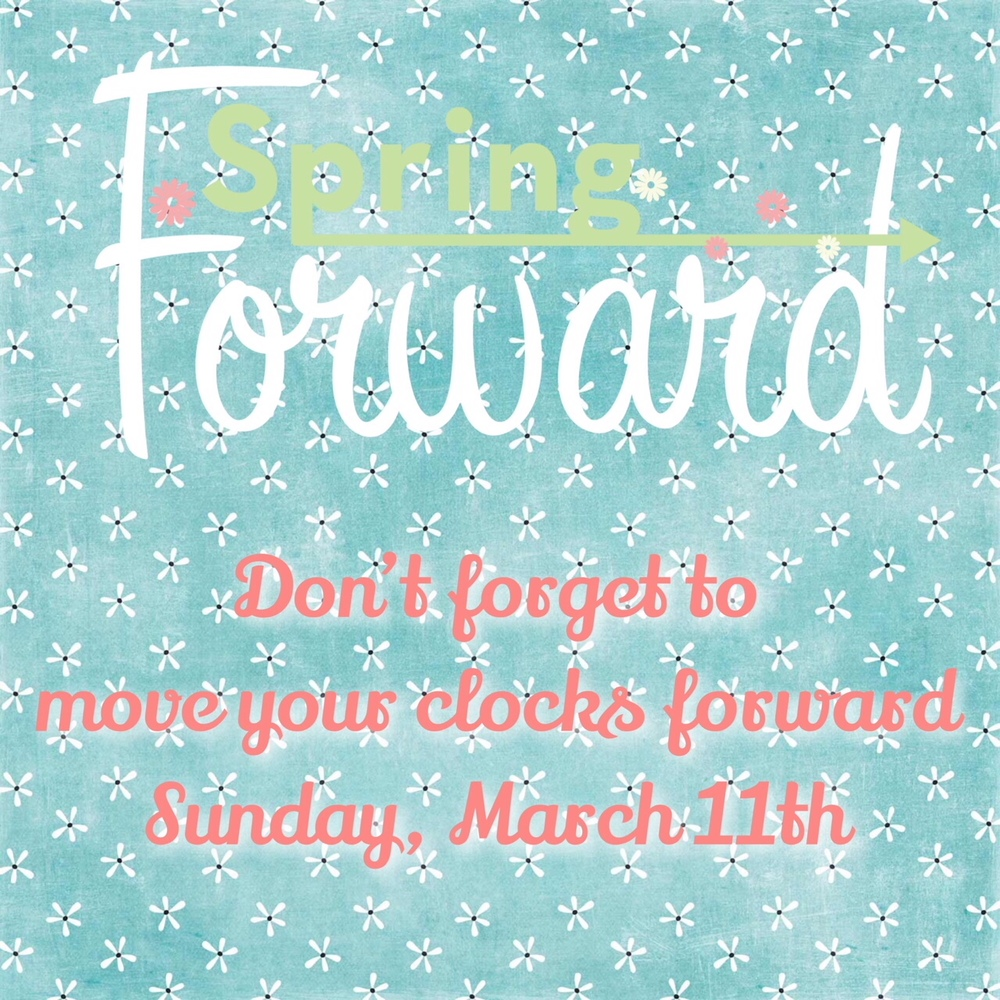Move Clocks Ahead Sunday