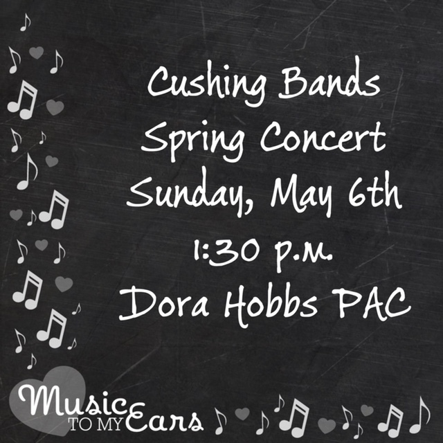 Cushing Bands Concert Sunday