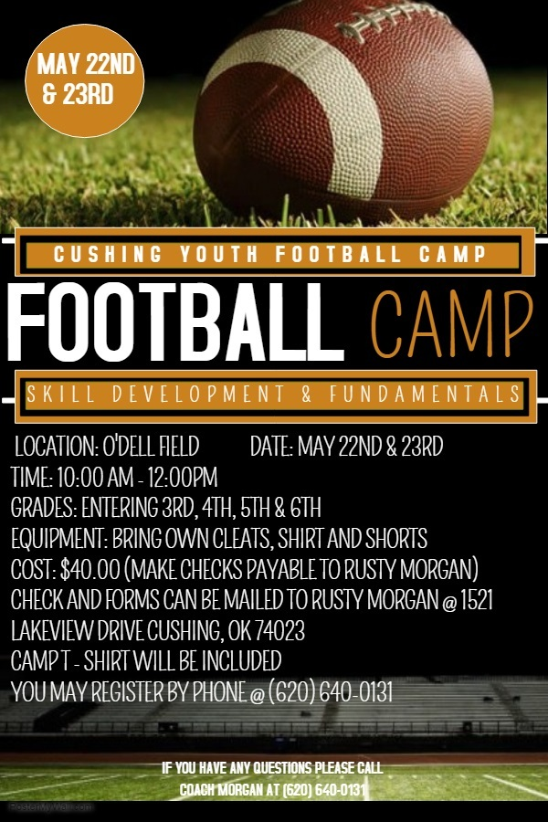 Cushing Youth Football Camp