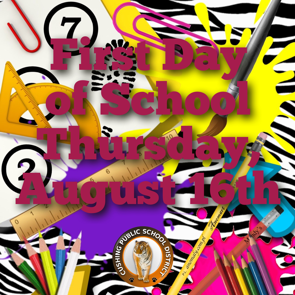 First Day of School August 16th