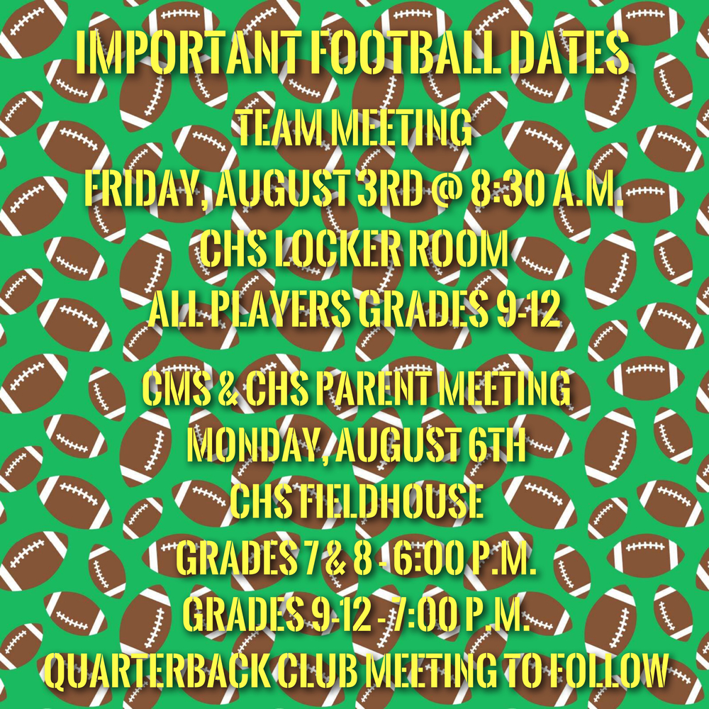 Important Football Dates