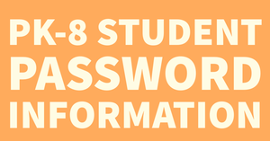 Student Password Information