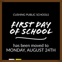First Day of School is Set for August 24th
