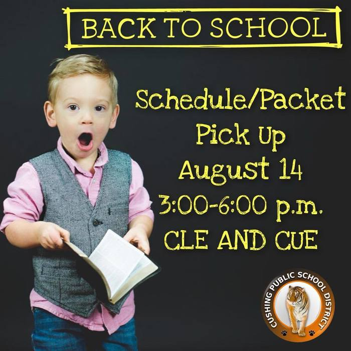 CUE & CLE Packet Pickup August 14 from 3-6