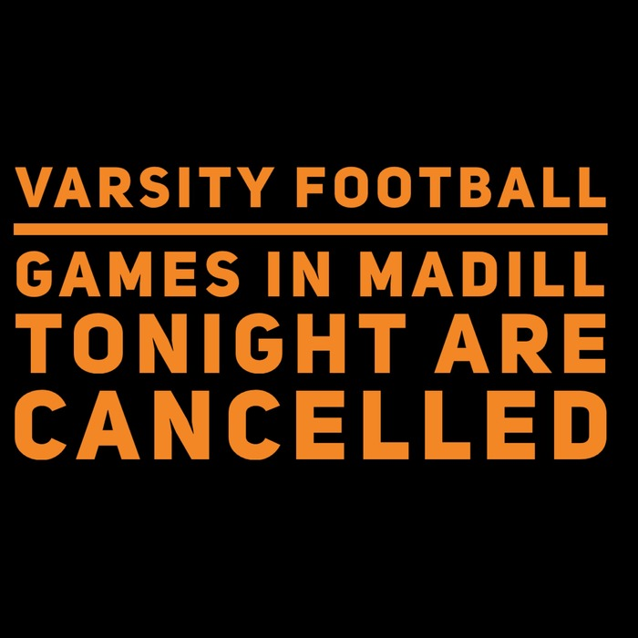 Varsity Football Cancelled