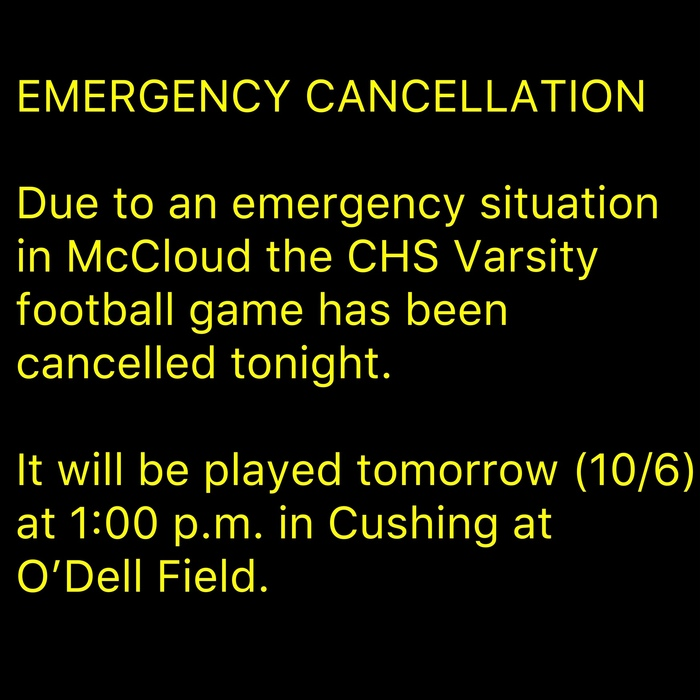 emergency cancellation
