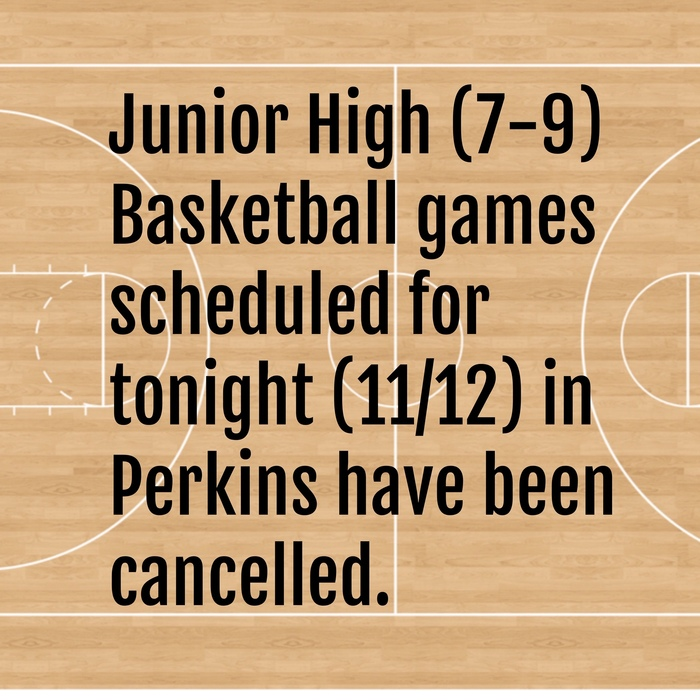 JH Basketball Cancelled
