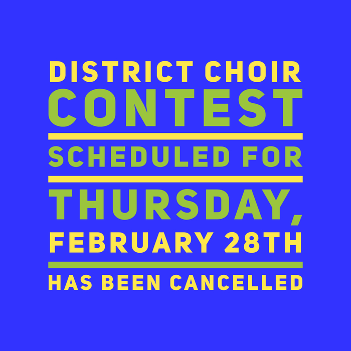 Choir Contest Cancelled