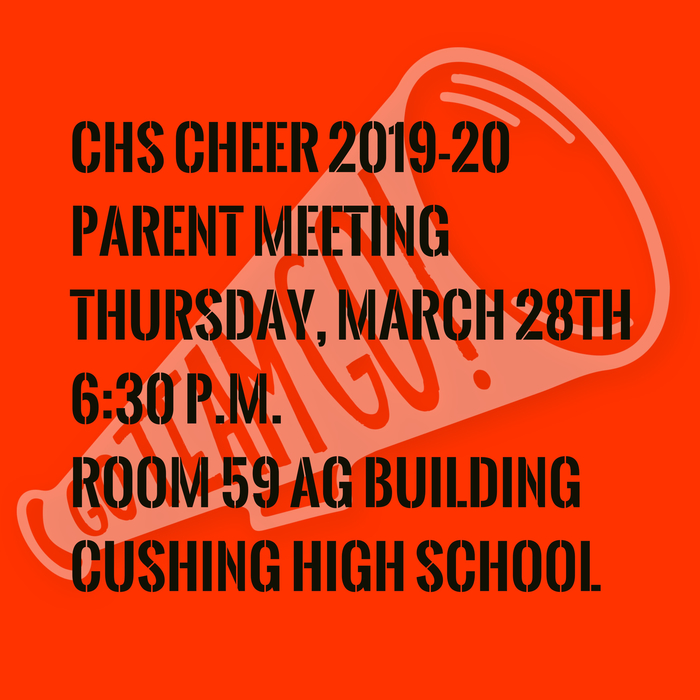 CHS Cheer Parent Meeting