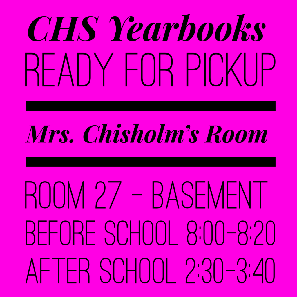 Yearbooks Available for Pick Up